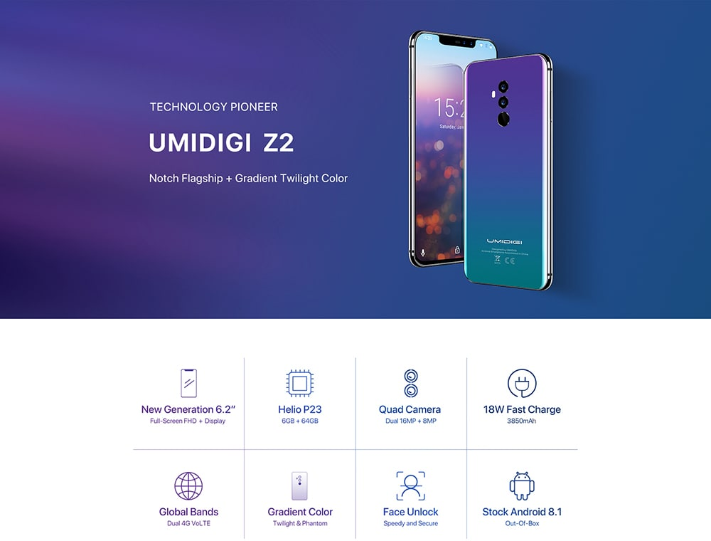 Umidigi Z2 Smartphone
