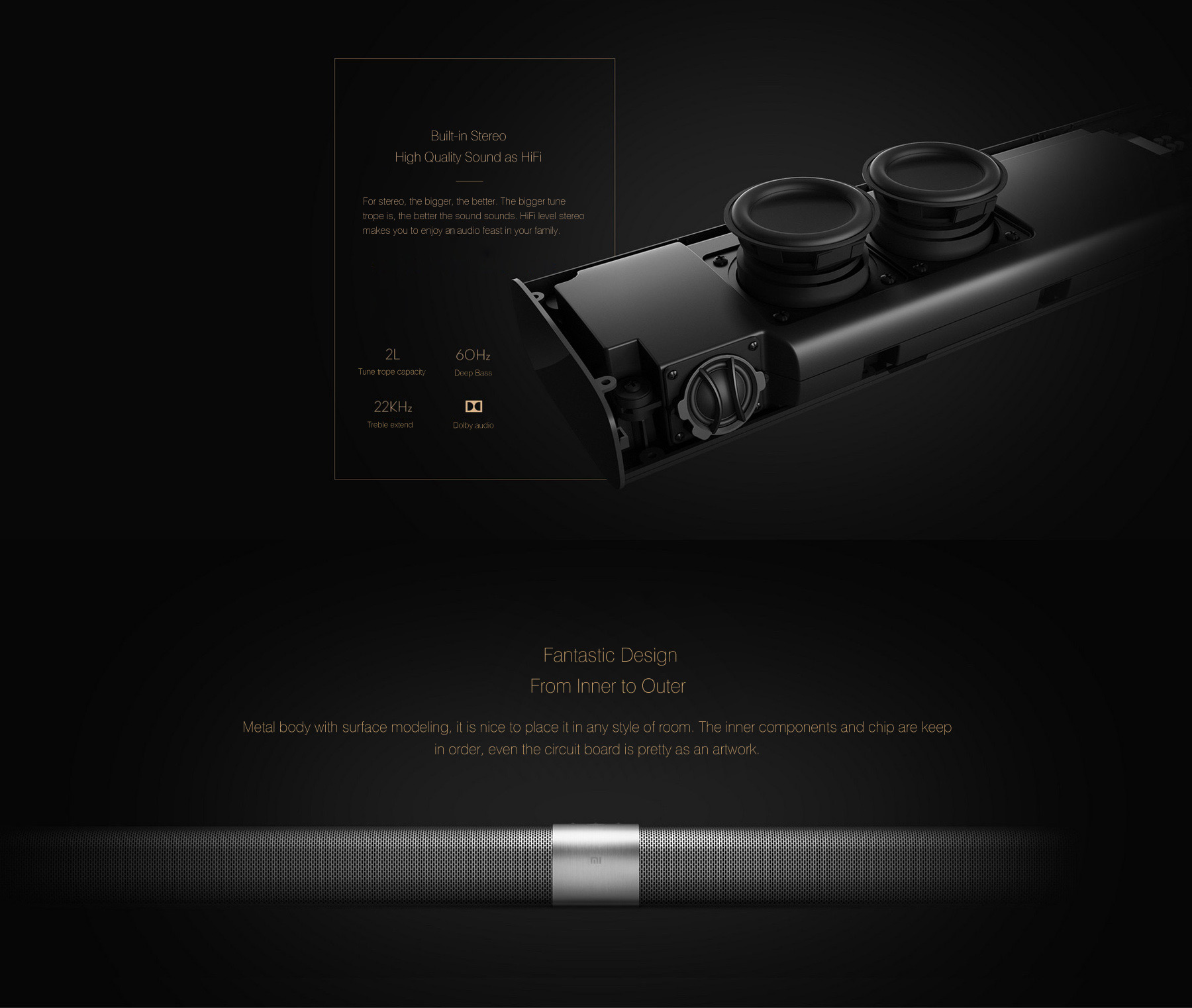 Xiaomi Mi Tv Bar Soundbar Mediaplayer Amp Reciever In 233 233 N